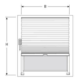 inline plissee faltstore f r standard fenster ma anfertigung. Black Bedroom Furniture Sets. Home Design Ideas